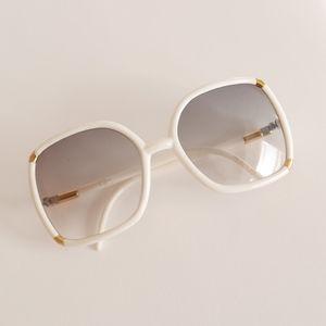 Vintage 70's TED LADIPUS Sun Glasses w/Gold Trim
